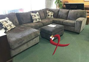 ., . Ballinasleo smoke Sectional only. Free delivery for Sale in Katy, TX