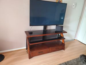 Wooden TV Stand - entertainment center for Sale in Vienna, VA