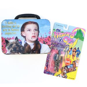 Vintage Wizard Of Oz 1988 Action Figure / Tin Lunch Box Container Collectibles for Sale in Rancho Cucamonga, CA