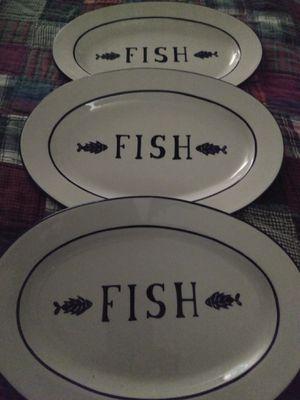 3 Fish Plates/Platters for Sale in Kirkland, WA