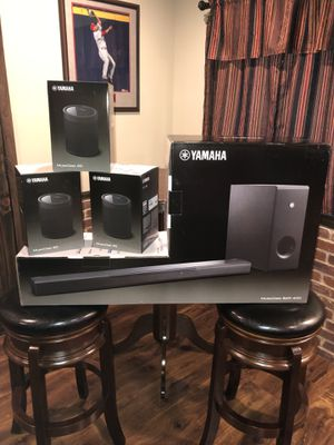 New, complete Yamaha Surround System with MusicCast 400 Soundbar, Subwoofer and (3) MusicCast20 Wireless Speakers for Sale in HOFFMAN EST, IL