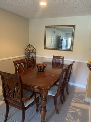 Wood dining table and 6 chairs for Sale in Poway, CA
