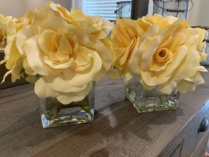 Set of two decorative flowers in vase for Sale in Longwood, FL