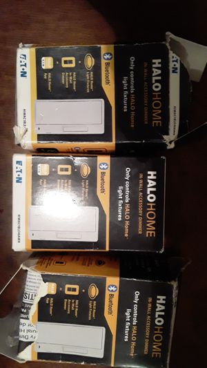 Halo home in wall accessory dimmer only controls Halo home light fixtures Bluetooth for Sale in San Leandro, CA