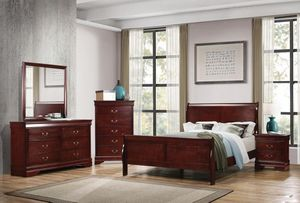 "Bedroom set Queen bed +Nightstand +Dresser +Mirror ""Mattress &Chest not included "" for Sale in Santa Ana, CA"