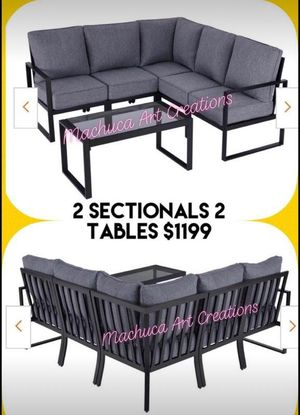 Huge New Patio Furniture Set Outdoor Sectional Metal for Sale in Riverside, CA