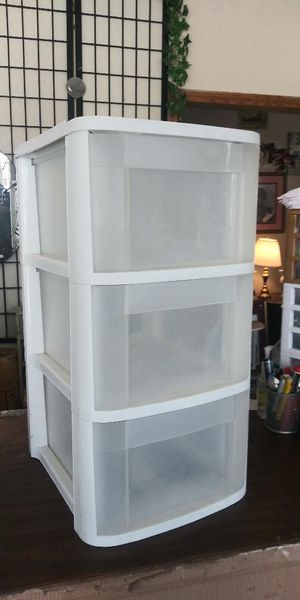 3- Drawer Plastic Storage Box for Sale in Lancaster, TX