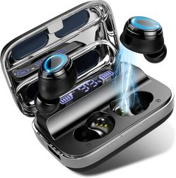 Donerton Wireless Earbuds, Bluetooth 5.0 Headphones 140 Hours Playtime Earphones with Charging Case, in Ear Headset IP7 Waterproof Earbuds for Sale in Naperville,  IL