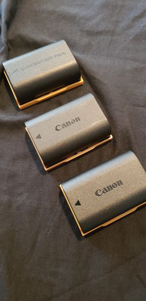 2 Canon LP-E6N batteries and 1 Watson Brand LP-E6N Battery for Canon with Canon LC-E6 battery charger for Sale in Santa Monica, CA