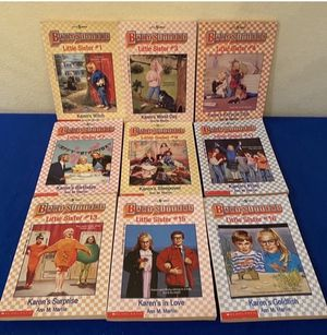 Vintage Babysitters Book Series (9 for $20) Little Sisters for Sale in Windcrest, TX