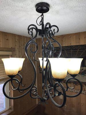 6 light wrought iron chandelier for Sale in Stroud, OK