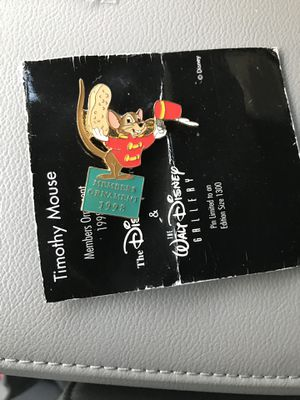 Timothy Mouse(Dumbo) Walt Disney Classic Collection 1998 Pin for Sale in Littleton, CO