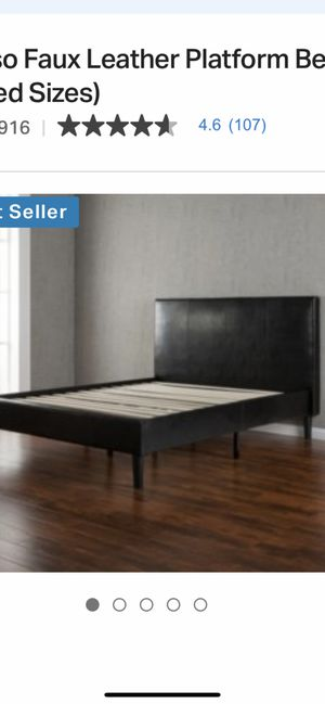 Faux fur head board - Bed frame ! New in box for Sale in Fresno, CA