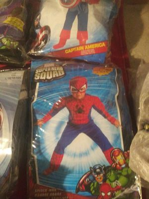 Spider man costumes 4-5 size for Sale in Covina, CA