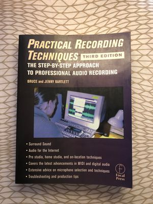 Practice Recording Techniques by Bruce & Jenny Bartlett (Third Edition) for Sale in South Pasadena, CA