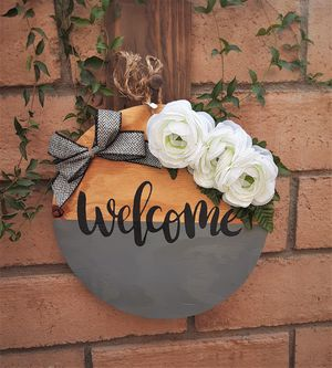 Farmhouse Welcome Door Hanger for Sale in Riverside, CA