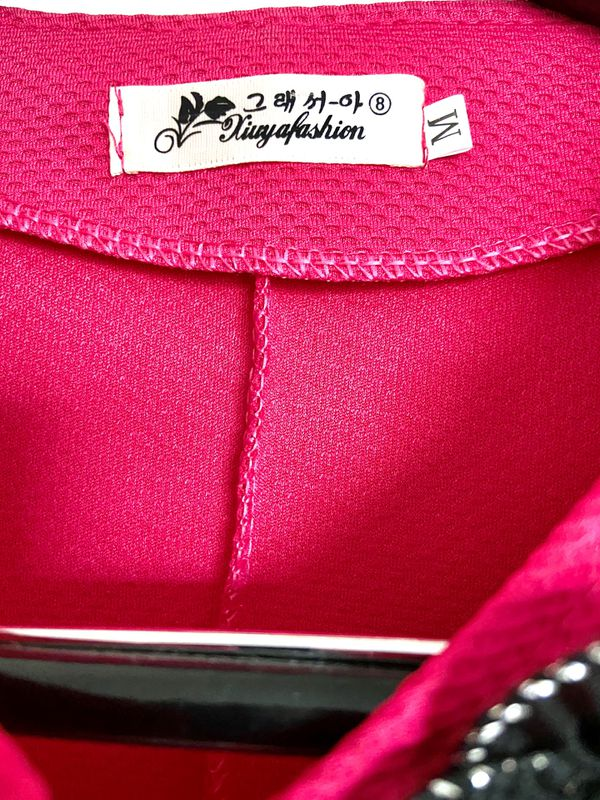 Pink elegant & feminine blazer/ jacket/ coat/ top