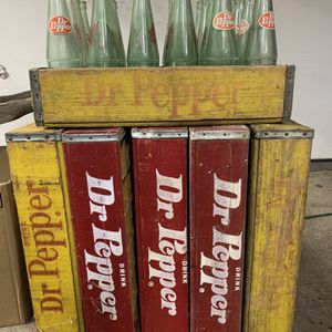 Dr. Pepper Crates And Bottles - $15 Ea Or $80 For All 6 for Sale in Princeton, TX