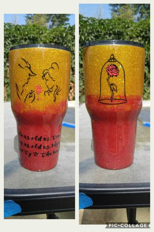 Beauty and the beast handmade 30oz cup for Sale in Dickinson, ND