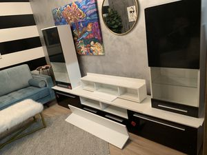Brand New Black and White TV Entertainment Stand for Sale in Virginia Beach, VA