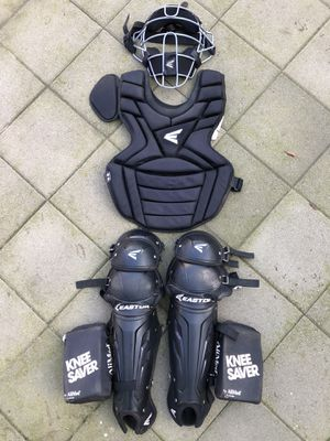 Easton catcher gear in great condition quality baseball bats gloves for Sale in Culver City, CA