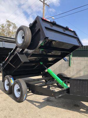 8x10x2 DUMP TRAILER NATM CERTIFIED for Sale in Phoenix, AZ
