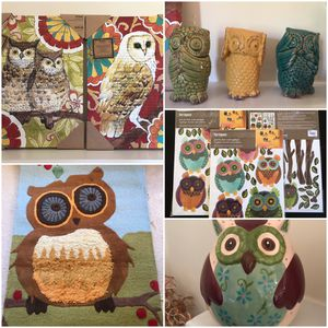 Home Owl Decorations EVERYTHING for $75 WITH tags for Sale in Laurel, MD