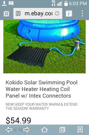 Solar panel Water Heating Coil Panels FOR a swimming pool for Sale in Manteca, CA