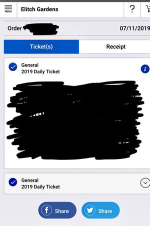 Two Elitch garden tickets for Sale in Colorado Springs, CO