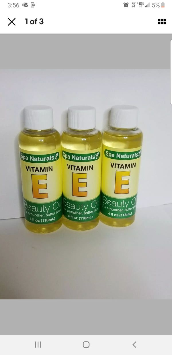 Spa Naturals Vitamin E Beauty Oil 4 oz, BONUS 3-pack!