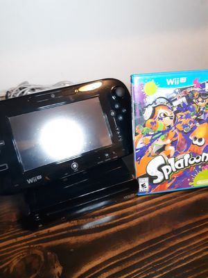 Nintendo Wii U 32GB Black Console + Splatoon Bundle for Sale in Phoenix, AZ