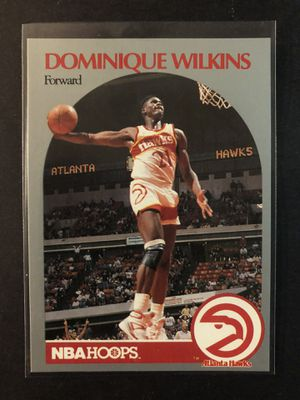 Dominique Wilkins 1990 NBA Hoops Basketball Card. Dominique Wilkins Atlanta Hawks Basketball Trading Card. for Sale in Chicago, IL
