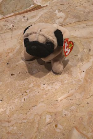 Pugsly 1996 Beanie Baby Dog Pug Breed Tan Black Beige for Sale in Herndon, VA