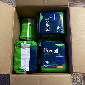 Box Of Prevail Total Care Underpads for Sale in Fort Worth, TX