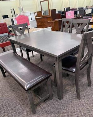 New dining set on sale with 4 chairs and bench n credit needed no money down for Sale in Rialto, CA