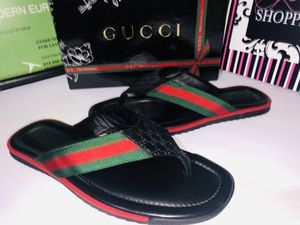 Gucci thong web embossed sandals size 9 new for Sale in Dublin, OH