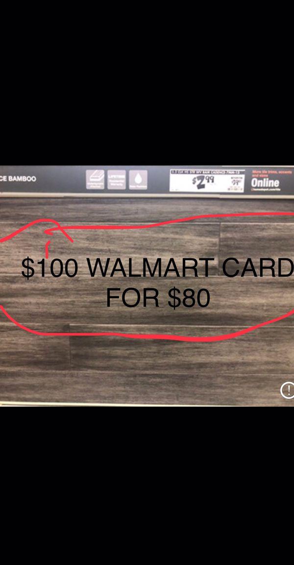 Walmart card $100