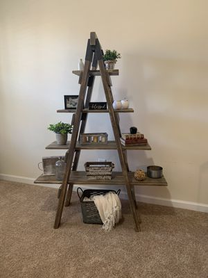 Rustic Farmhouse Ladder Shelf for Sale in Loganville, GA