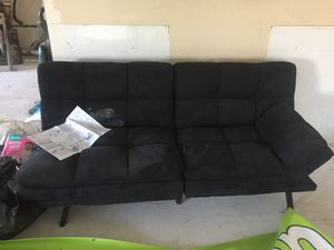 Futon couch black for Sale in St. Louis, MO