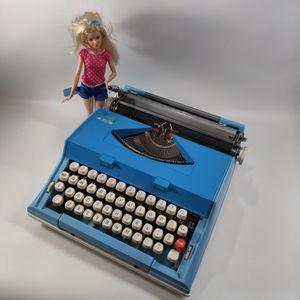 "Blue Sears Malibu ""Barbie"" Typewriter for Sale in McKinney, TX"