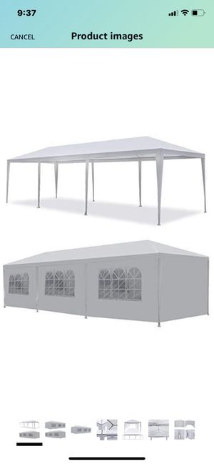 10 X 20 Outdoor Party Tent Gazebo Canopy **Covering only** for Sale in Burtonsville, MD