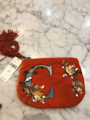 Anthropologie Flowering Monogram Pouch 'C' - NWT for Sale in Chicago, IL