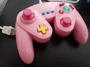 Nintendo Wii U and regular Wii Super Mario Bros Peach princess Controller for Sale in Dallas, TX