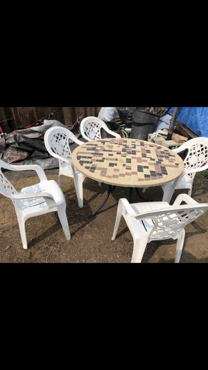 Outdoor patio furniture table chairs for Sale in San Jose, CA