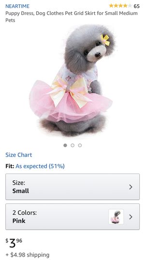 Dog cat dresses. $3 each for Sale in Hyattsville, MD