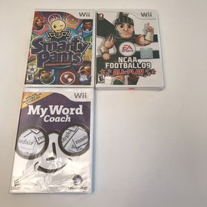 Brand new sealed nintendo wii video games lot for Sale in Burtonsville, MD