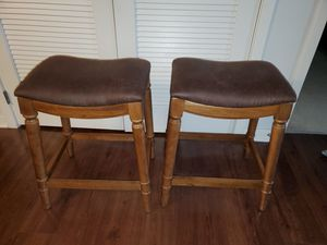 "Two Brown barstools 26"" high for Sale in Springdale, MD"