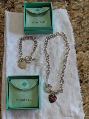 Tiffany and company necklace bracelet set used for Sale in Mount Prospect, IL