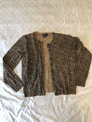 Nina Leonard cheetah print cardigan size Medium for Sale in Philadelphia, PA