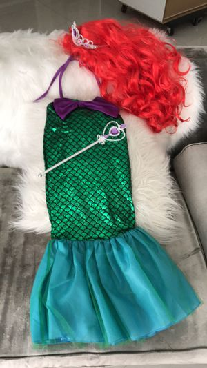 Ariel little mermaid 🧜‍♀️ costume size 5-6 but runs small for Sale in Miramar, FL